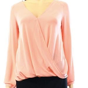 NWT Lush Pink High/Low Blouse